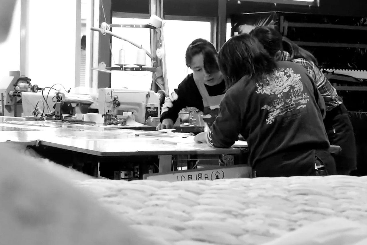 アサギの生産工場